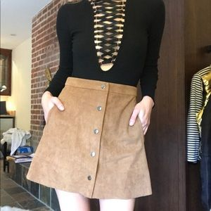 Chic Suede Skirt by Lush
